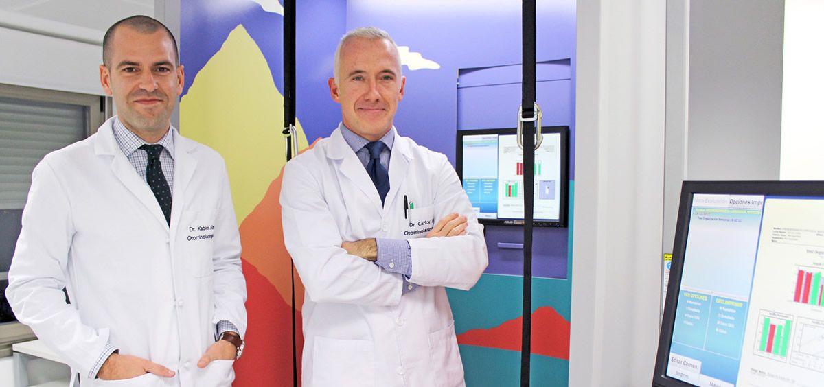 Xabier Altuna y Carlos Saga, otorrinolaringólogos de Policlínica Gipuzkoa y expertos en pérdida auditiva (Foto. ConSalud)