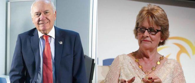 Florentino Pérez Raya, presidente del Consejo General de Enfermería, y Annette Kennedy, presidenta del Consejo Internacional de Enfermeras (Foto. CGE y CIE)