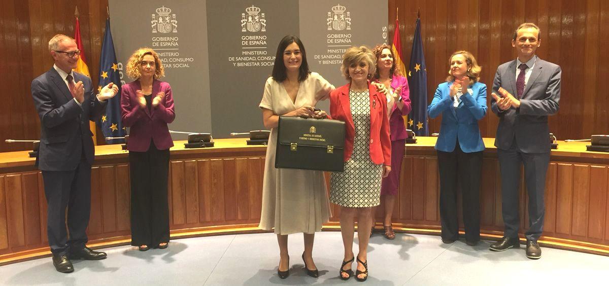 María Luisa Carcedo toma la cartera del Ministerio de Sanidad de manos de Carmen Montón (Foto: ConSalud.es)