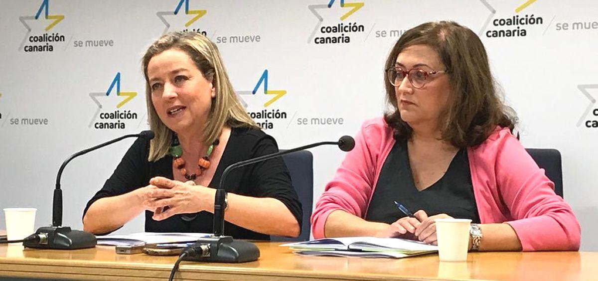 Las diputadas de Coalición Canaria, Ana Oramas y Guadalupe González (Foto: Coalición Canaria)