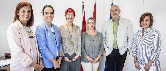 Los representantes del Colegio de Enfermería de Navarra, reunidos con la consejera Santos Induráin (Foto: Colegio de Enfermería de Navarra)