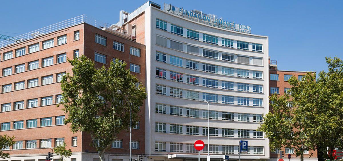 Fachada exterior de la Fundación Jiménez Díaz. (Foto. ConSalud)