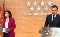 Isabel Díaz Ayuso e Ignacio Aguado, presidenta y vicepresidente de la Comunidad de Madrid (Foto: Comunidad de Madrid)