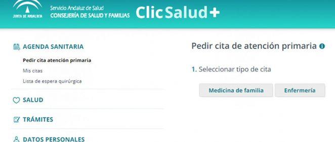 Nueva web 'ClicSalud+' para los usuarios del SAS. (Foto. ConSalud)