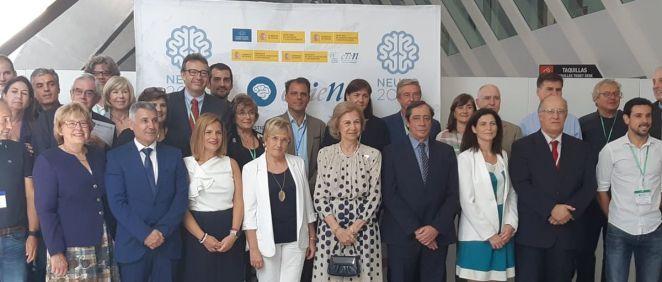 Ana Barceló y la Reina Sofía en el Congreso de Enfermedades Neurodegenerativas (Foto. Comunidad Valenciana)