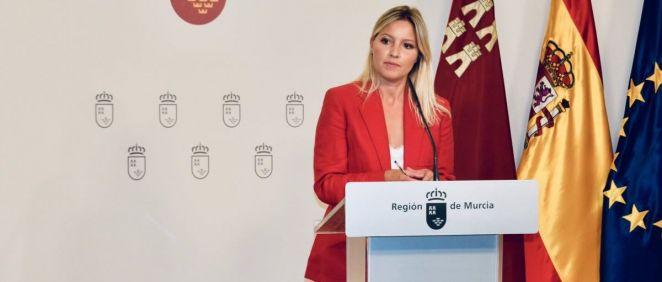 La portavoz del Gobierno de Murcia, Ana Martínez Vida (Foto. @regiondemurcia)