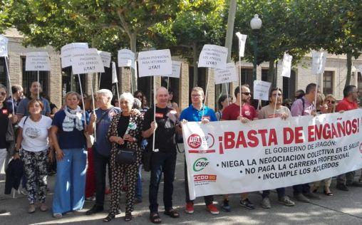 'Viernes negros' de la sanidad aragonesa: los sanitarios vuelven a salir a la calle