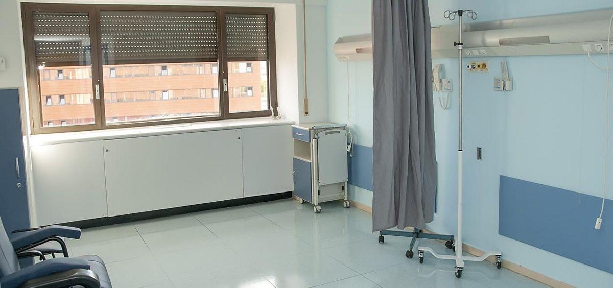 Habitación reformada del Hospital Universitario de Guadalajara (Foto: Gobierno de Castilla-La Mancha)