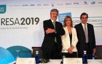 Ángel de Benito, Marta Villanueva y Juan Abarca, miembros de la nueva Junta Directiva de IDIS, durante la presentación del Estudio RESA 2019 (Foto: Juanjo Carrillo Córdoba - ConSalud.es)