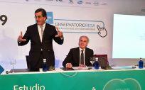 Juan Abarca Cidón y Enrique Ruiz Escudero, durante la presentación del Estudio RESA 2019 (Foto: Juanjo Carrillo Córdoba - ConSalud.es)