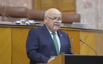 Jesús Aguirre, durante su comparecencia en el Parlamento de Andalucía