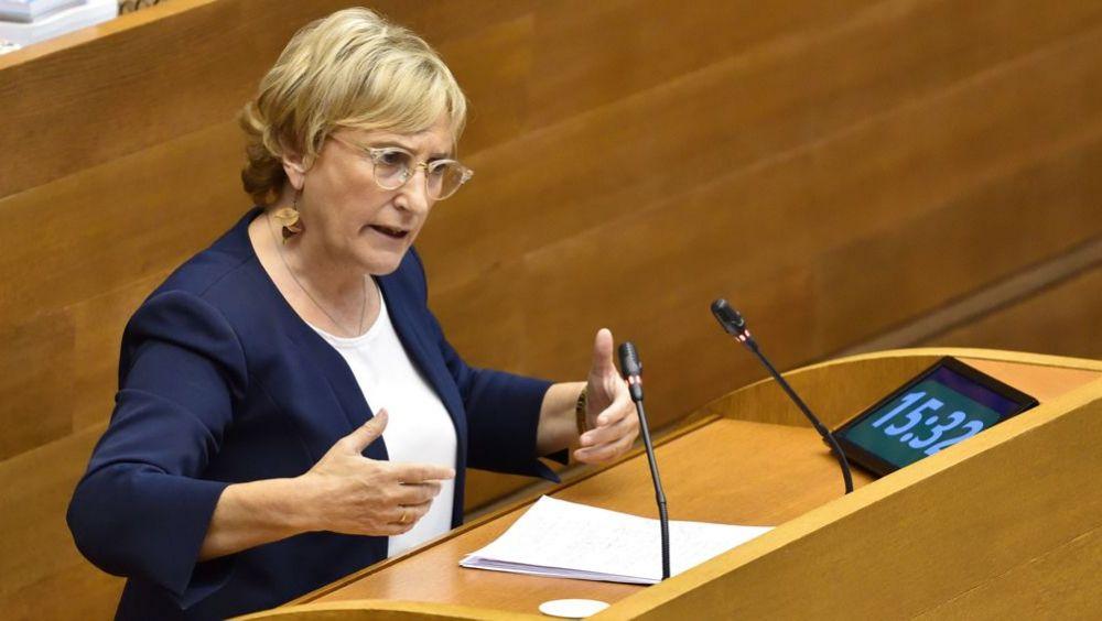 Ana Barceló, consejera de Sanidad Universal de la Generalitat Valenciana (Foto. Cortes Valencianas)