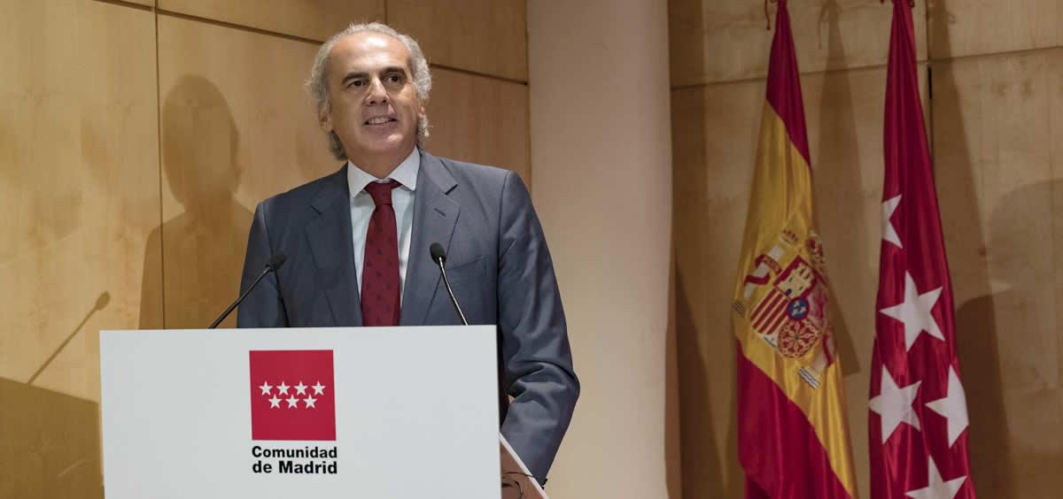 El consejero de Sanidad de la Comunidad de Madrid, Enrique Ruiz Escudero (Foto. @eruizescudero)