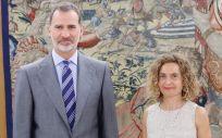 Meritxell Batet, presidenta del Congreso, en un reciente encuentro con el rey Felipe VI (Foto: Congreso de los Diputados)