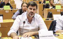 Nicolás González Casares, eurodiputado del PSOE, durante un debate en el Parlamento Europeo (Foto: S&D)