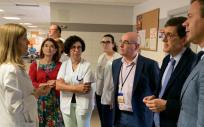 Manuel Villegas (2º por la derecha) durante su visita al Centro de Salud Mariano Yago de Yecla (Foto. Consejería de Salud de Murcia)