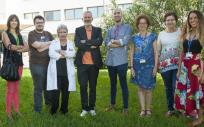 Miembros de la unidad de Alergia del Hospital Universitario de Bellvitge (Foto. ConSalud)