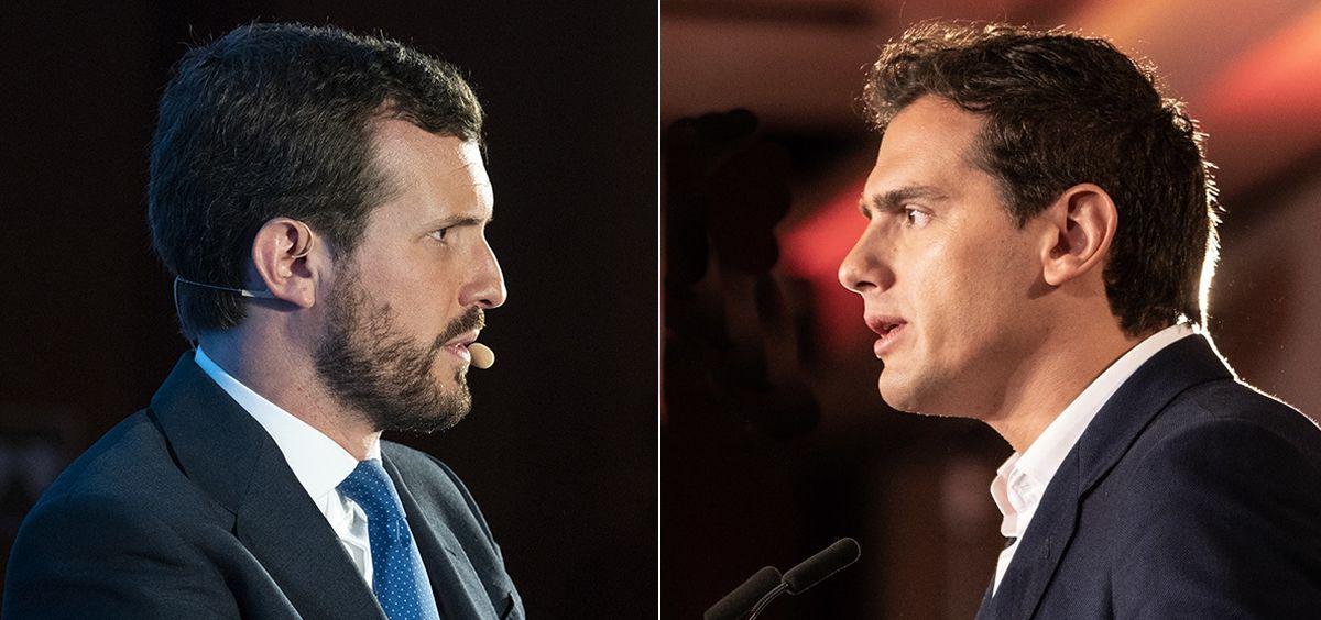 Pablo Casado y Albert Rivera, presidentes del PP y de Ciudadanos (Foto: ConSalud.es)