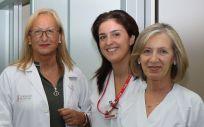 Ana M. Regueira, directora de enfermería de Departamento La Fe, junto con las dos enfermeras, Pilar Blasco y Julia Romero (Foto. ConSalud)