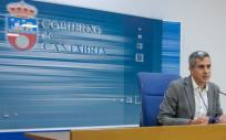 El vicepresidente Pablo Zuloaga durante la rueda de prensa (Foto. Gobierno de Cantabria)