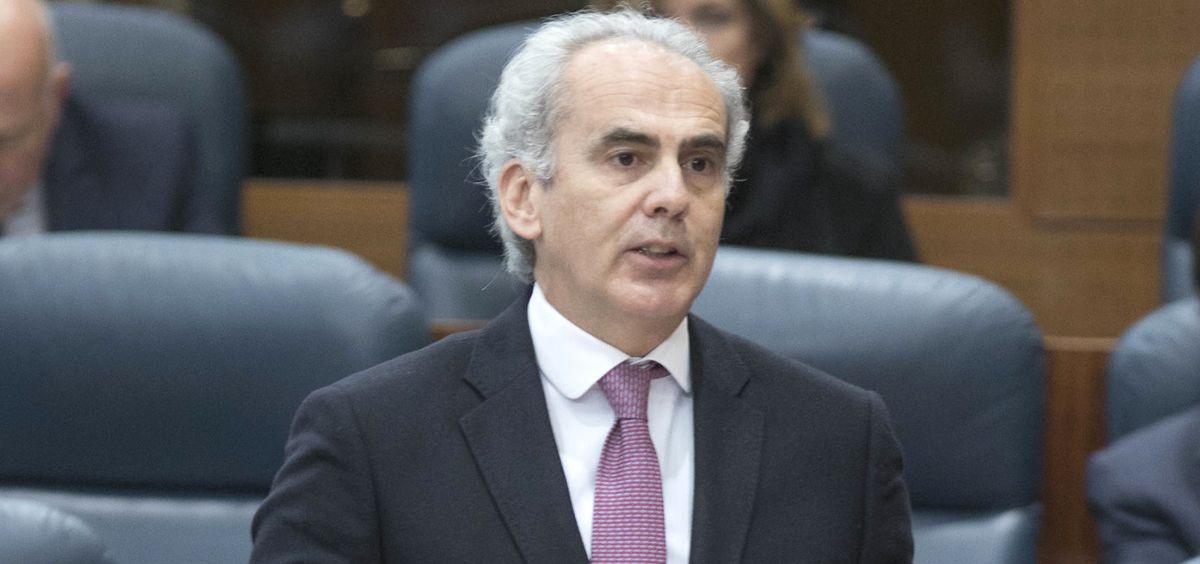 Enrique Ruiz Escudero, consejero de Sanidad de la Comunidad de Madrid (Foto: PP Asamblea de Madrid)