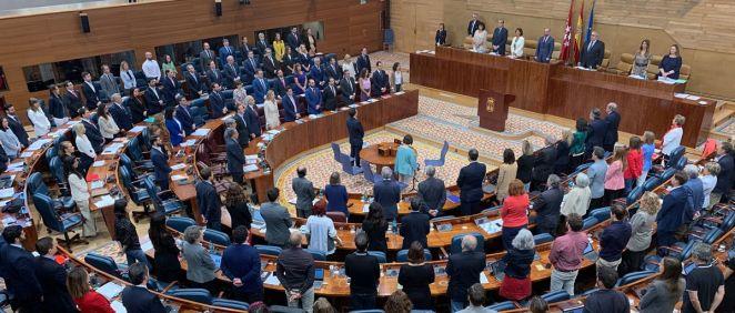 Pleno de la Asamblea de Madrid (Foto: @asambleamadrid)