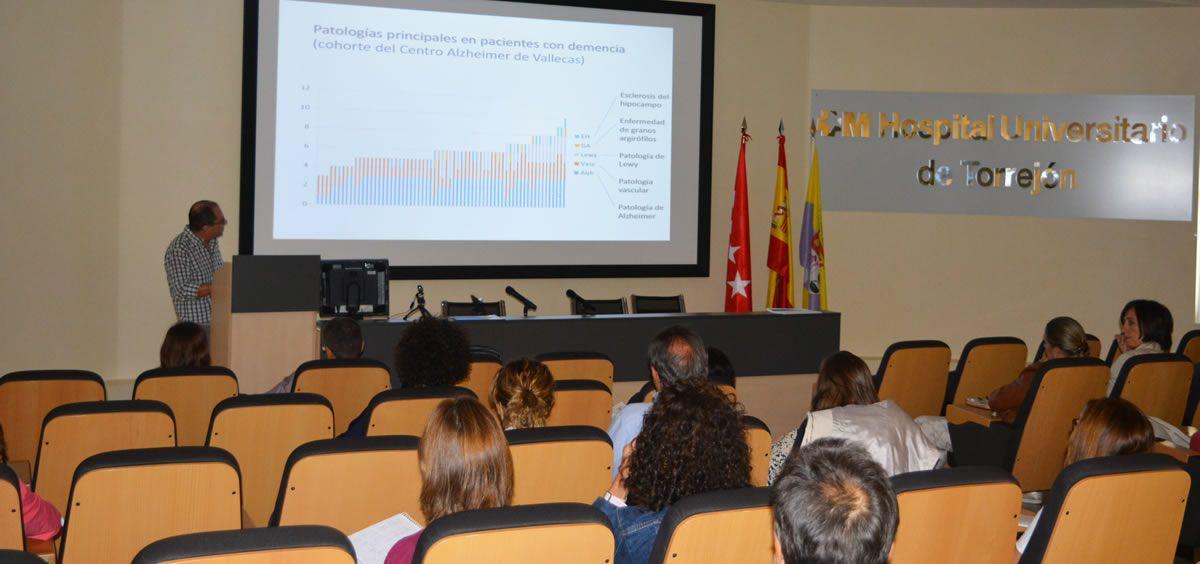 Curso Alzheimer en el Hospital Universitario de Torrejón (Foto. Torrejón Salud)