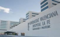 Fachada principal del hospital La Fe (Foto. Generalitat Valenciana)