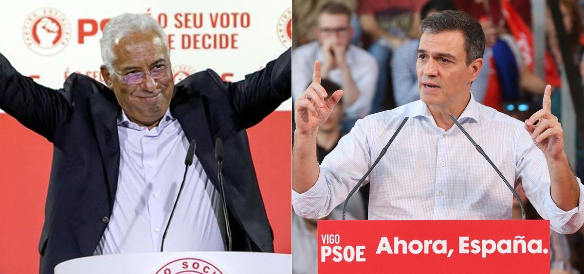 António Costa y Pedro Sánchez, primer ministro de Portugal y presidente del Gobierno de España (Foto: ConSalud.es)