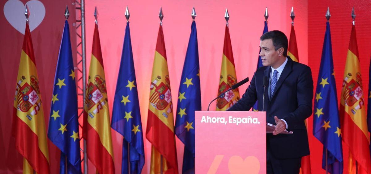 Pedro Sánchez, secretario general del PSOE (Foto: @PSOE)