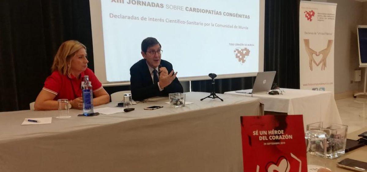 El consejero de Sanidad, Manuel Villegas, durante las jornadas (Foto. Murcia Salud)