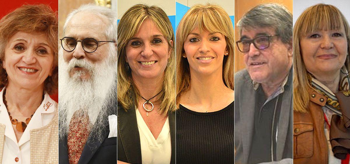 De izqda. a der.: María Luisa Carcedo, Agustín Javier Zamarrón, Ana Prieto, Marina Ortega, Modesto Pose y María Perla Borao (Foto: ConSalud.es)