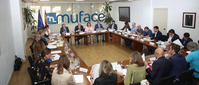 Reunión de la secretaría de Estado de Función Pública con Muface (Foto: Ministerio de Función Pública)