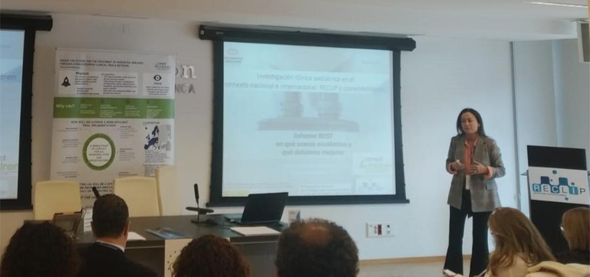 Amelia Martín Uranga durante su intervención (Foto. Farmaindustria)