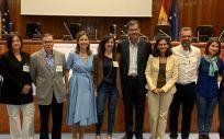 Los ponentes de la jornada, junto a la directora de la AEMPS, María Jesús Lamas. (Foto. Aemps)