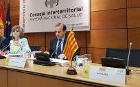 María Luisa Carcedo, ministra de Sanidad en funciones, antes del Consejo Interterritorial con el asiento de Cataluña vacío (Foto: ConSalud.es)