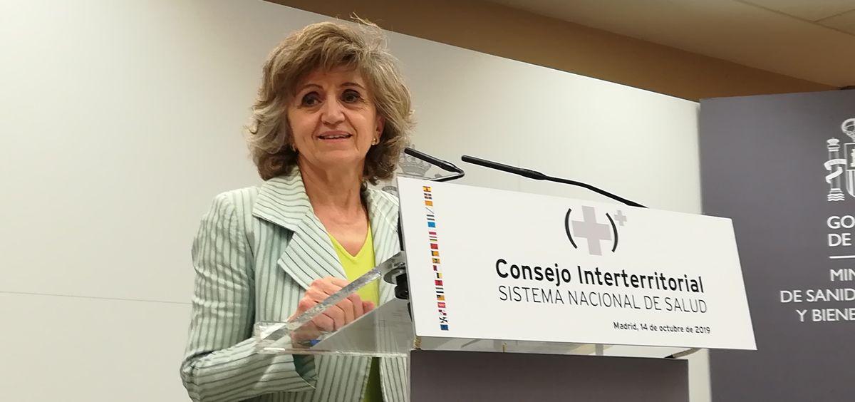 La ministra de Sanidad, María Luisa Carcedo, tras el Consejo Interterritorial (Foto: Juanjo Carrillo - ConSalud.es)