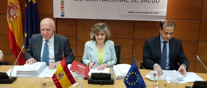 La ministra de Sanidad en funciones, María Luisa Carcedo, presidiendo el Consejo Interterritorial. (Foto: ConSalud.es)