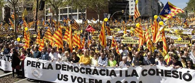 Manifestación en Cataluña. (Foto. Metges de Catalunya)