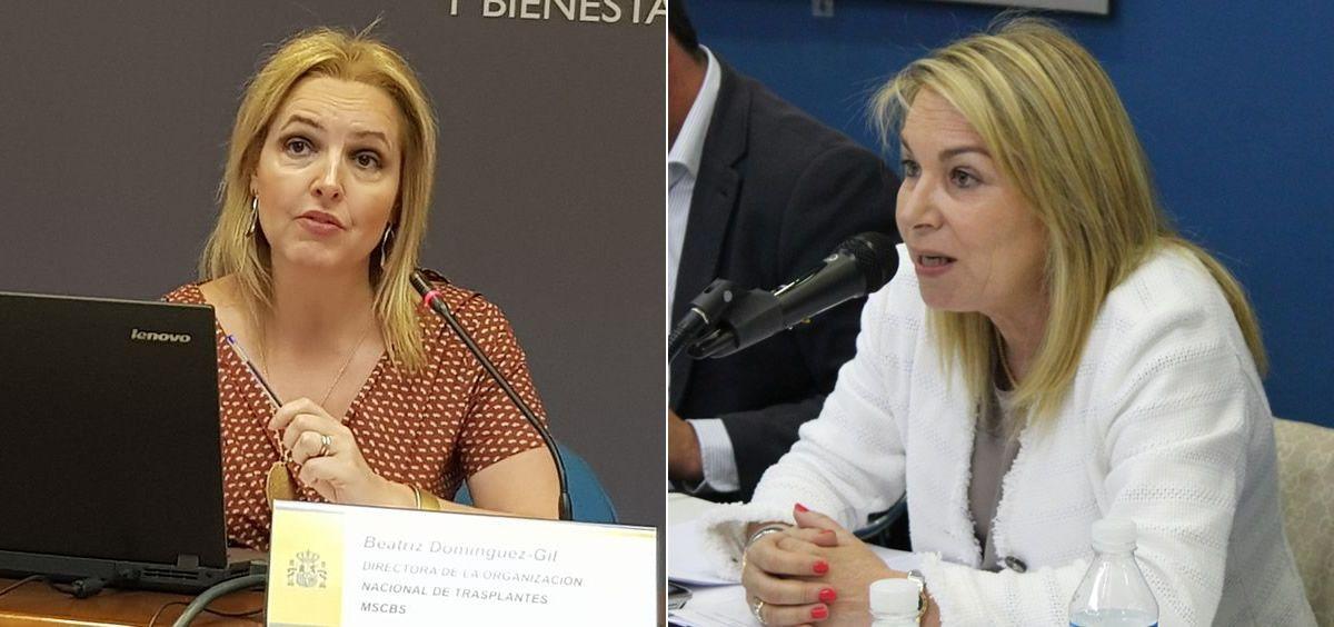 Beatriz Domínguez-Gil, directora de la Organización Nacional de Trasplantes (ONT), y Cristina Contel, presidenta de la Alianza de la Sanidad Privada Española (ASPE) | (Fotomontaje ConSalud.es)