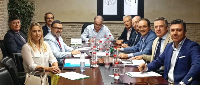 Presidentes de los Colegios Oficiales de Farmacéuticos de Andalucía que han firmado el manifiesto (Foto. ConSalud)