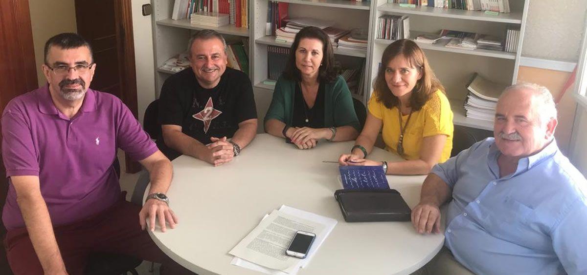 Imagen de la reunión de la Federación de Sanidad y Sectores Sociosanitarios de CCOO de Andalucía (FSS CCOO Andalucía) y la Asociación Española de Enfermería de Salud Mental. (Foto.FSS CCOO Andalucía)