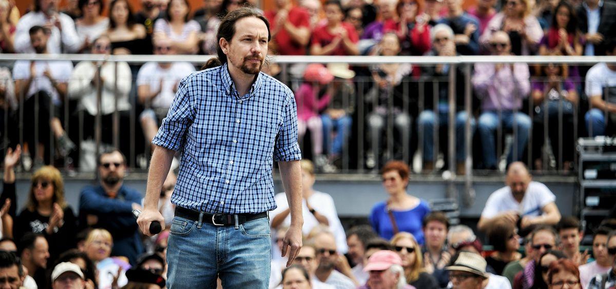 Pablo Iglesias, secretario general de Podemos, durante un mitin (Foto: Podemos)