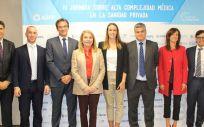 Representantes de ASPE y ponentes en la III Jornada sobre alta complejidad médica en la sanidad privada (Foto: ASPE)