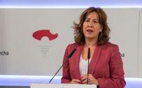 La portavoz del Gobierno de Castilla La Mancha, Blanca Fernández (Foto. Castilla La Mancha)
