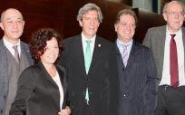 Juan Carlos de la Pinta, Julián Álvarez Escudero, Miguel Ángel Sánchez Chillón, Antonio Montes y María Teresa Ruiz Cantero (Foto. ConSalud.es)