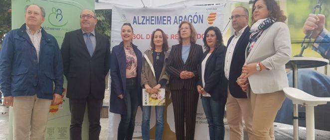 Pilar Ventura en la campaña de sensibilización social ''La nueva cara del alzhéimer'' (Foto. Aragón Hoy)