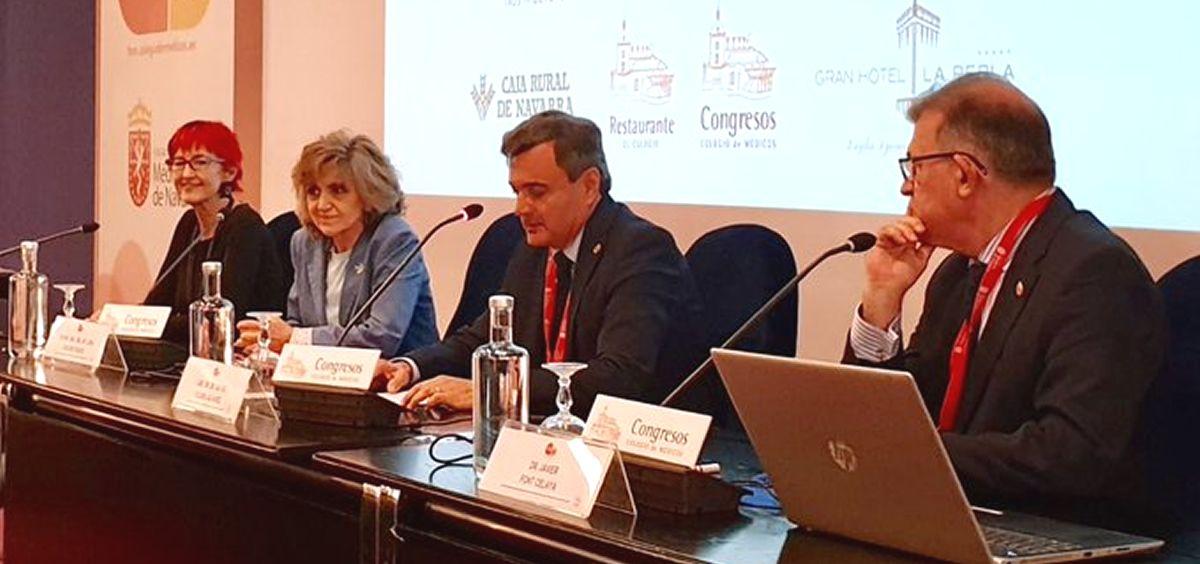 María Luisa Carcedo, ministra de Sanidad en funciones, durante la inauguración del I Foro Médicos de Navarra (Foto: Ministerio de Sanidad)
