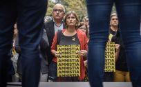 La consejera de Salud de Cataluña, Alba Vergés, participando en un acto de ERC en protesta de la sentencia del 'procés' (Foto: Marc Puig / ERC)