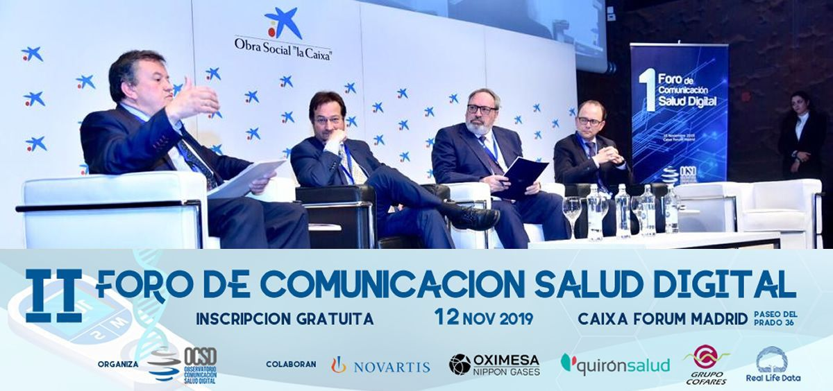 Primera edición del Foro de Comunicación Salud Digital, celebrado en noviembre de 2018 (Foto: Miguel Ángel Escobar)